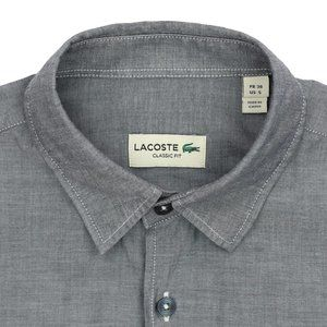 Current Lacoste Classic Fit Button Down Shirt Gray